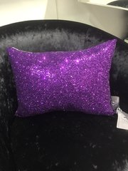Beautiful Purple Glitter Claira scatter cushion 14x10inch
