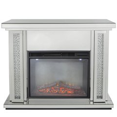 Beautiful Floating Crystal and mirror surround - including electric fire