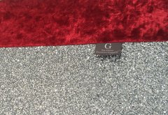 Stunning red crushed velvet with silver glitter curtain tiebacks