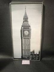 Glitter picture wall art Big Ben picture - framed