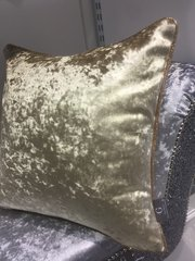 beautiful chartreuse gold with Champaign glitter pipe scatter cushion