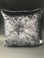 Glitter pipe - snake animal print - black crushed velvet scatter cushion