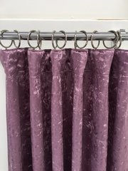 Made to order Pencil pleat crushed velvet curtains