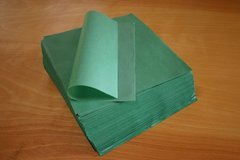 tamale parchment paper wraps; smooth sheet, green, XXL, 9 in X 12 in; case of 1,000