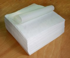 parchment paper square, 4x4 inch, silicone-coated for wax, dabs, or rosin, package of 4 thousand sheets