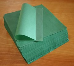 tamale parchment paper wraps; green, smooth sheet, square, 9 in X 9 in; case of 1,000