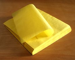 tamale parchment paper wrap; smooth sheet, yellow, XL, 9 in X 10 in; case of 1,000