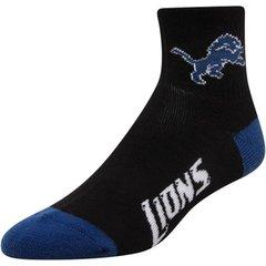 Detroit Lions Team Logo Quarter Socks - Blue/Black