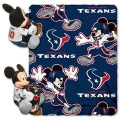 Houston Texans Northwest Mickey Mouse Hugger and Fleece Throw Set