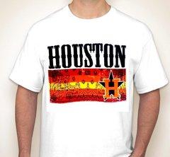 Houston Paisley Strip White Fan Shirt T-Shirt