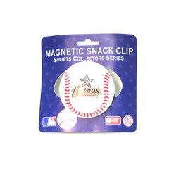 Houston Astros Baseball Style Chip/Fridge Magnetic Clip