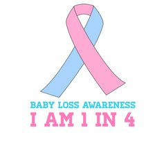 Pregnancy and Infant Loss Awareness 5 x 5 Vinyl Decal