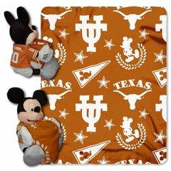 Texas Longhorn NCAA Mickey Mouse Hugger and Fleece Throw Set