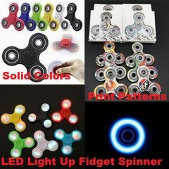 Fidget Spinners - Solid Colors, Patterns & LED Light Up Spinners