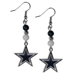 Dallas Cowboys Siskiyou Bead Dangle Earrings