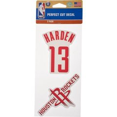 Houston Rockets James Harden #13 WinCraft Perfect Cut Decals 2-Pack