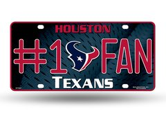 Houston Texans #1 Fan Logo Rico License Plate