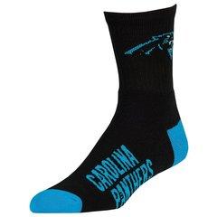 Carolina Panthers Team Logo Quarter Socks - Black