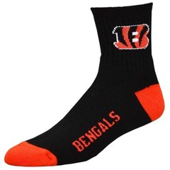 Cincinnati Bengals Team Logo Woven Quarter Sock Black
