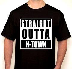 Straight Outta H-Town Black T-Shirt