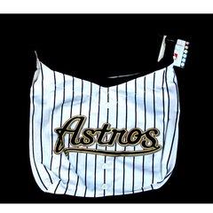 Houston Astros White Pinstripe Large Hobo Purse