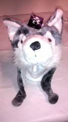 Winter Plush Animal Wolf Hat With Lights & Animal Sounds