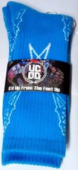UCOG Streetwear Oilers Columbia Blue & White Socks