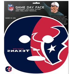 Houston Texans Game Face Temporary Tattoo