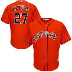 Houston Astros Jose Altuve Majestic Cool Base Player Jersey - Orange