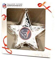 Houston Texans Silver Star Christmas Ornament