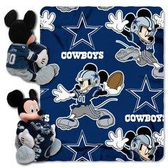 Dallas Cowboys Mickey Mouse Hugger and Fleece Throw Set