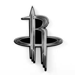 Houston Rockets Premium Chrome Emblem