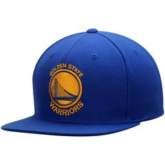 Golden State Warriors Mitchell & Ness Royal Current Logo Wool Solid Snapback Adjustable Hat