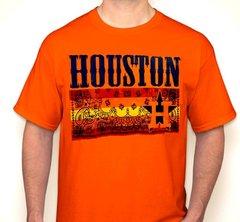 Houston Paisley Strip Orange Fan Shirt T-Shirt