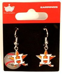 Houston Astros Amco Classic Style Dangle Earrings