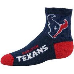 Houston Texans Team Logo Quarter Length For Bare Feet Socks - Navy Blue
