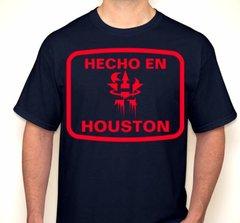 Hecho En Houston Red & Navy Houston Football Fan T-Shirt
