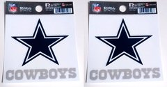 Dallas Cowboys Rico Small Static Decal 2 Pack
