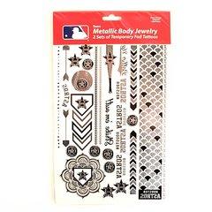 Houston Astros Tattoos 2 Pack Body Jewelry