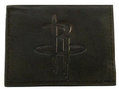 Houston Rockets Embossed Tri-Fold Leather Wallet Black