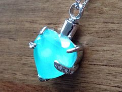 "HEART ASHES PENDANT ON 18"" SILVER PLATED CHAIN TO CLEAR LAST FEW !"