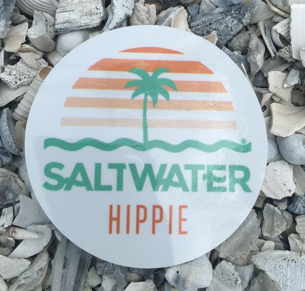 Saltwater Hippie Round Logo Sticker Shop Saltwaterhippie Com