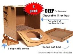 """New - """"Deep"""" Disposable litter box (add your own litter)"""