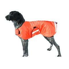 Dog Raincoat with Adjustable Closures and Reflective Strips