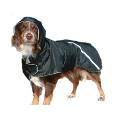 Winter Dog Coat with tummy panel, reflective strips and hood