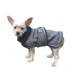 Luxury Retro Dog Coat with Faux Fur Lining