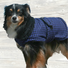 Luxury Retro Dog Coat with Faux Fur Lining