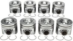 Mahle Ford Style Piston Assembly - 6.4 Power Stroke