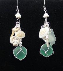 Beachcomber Earrings in Sea Foam Green