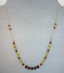 Peridot and Garnet Necklace